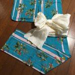 浅葱の浴衣と兵児帯