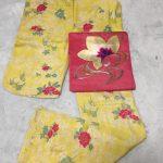 単衣の黄色の着物