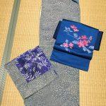 祖母の着物と名古屋帯のコーディネート