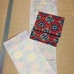紬の着物のコーディネート