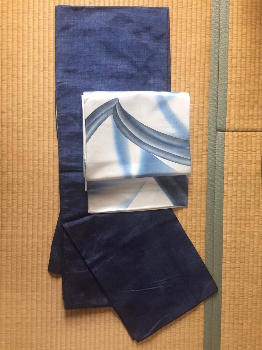 着物・紬、帯・正絹