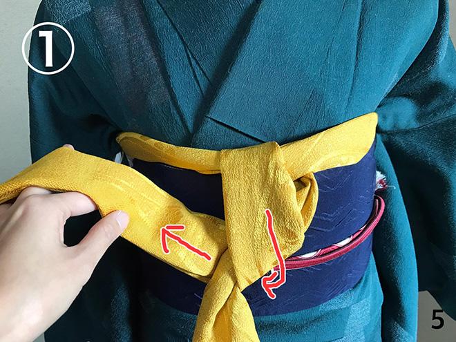 帯揚げ:着付け教室で習った方法-05