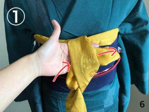 帯揚げ:着付け教室で習った方法-06