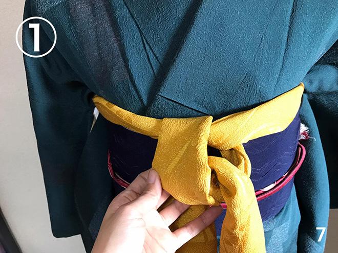 帯揚げ:着付け教室で習った方法-07
