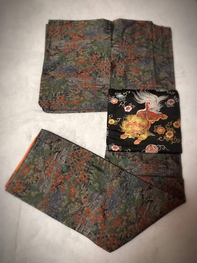着物紬・帯正絹1