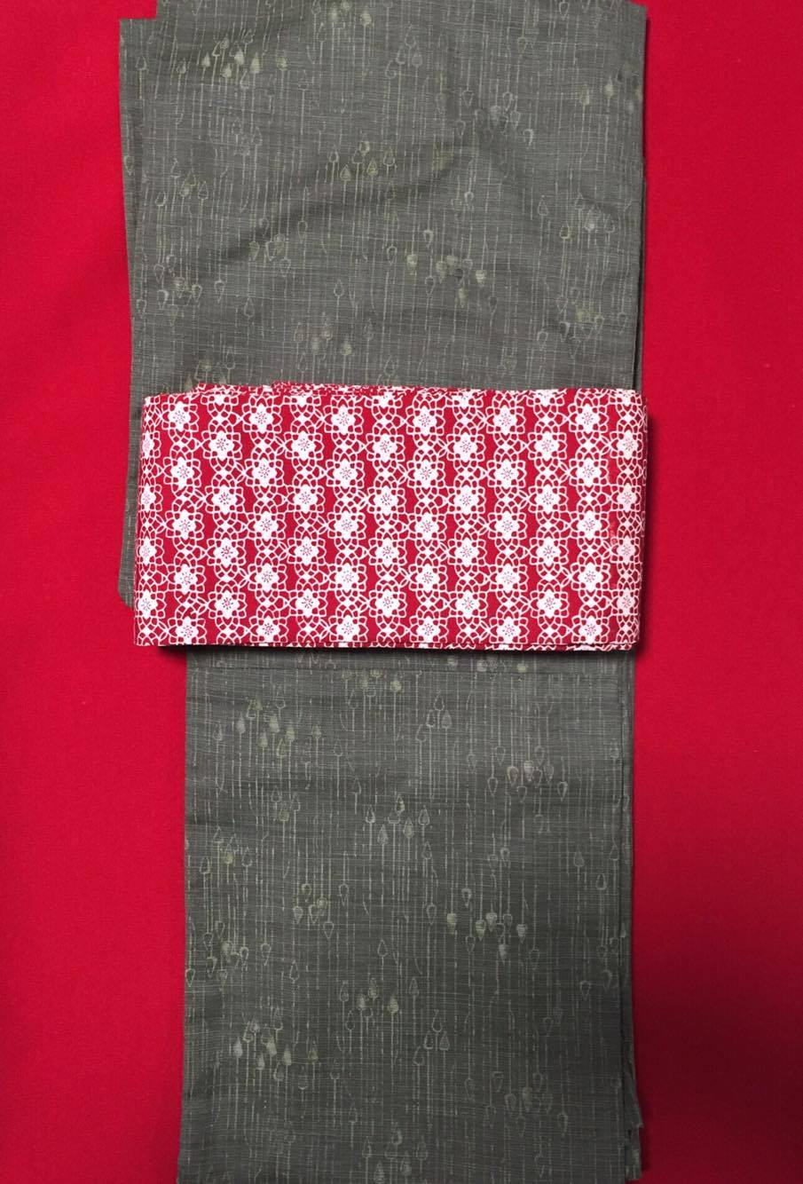 着物ウール、帯綿1