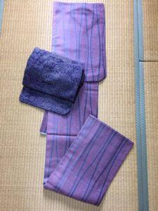着物:ウール、帯:ウール2