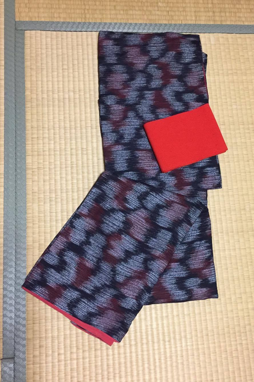 着物;正絹、半幅帯:ウール1