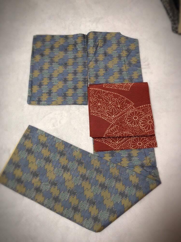 着物紬・帯正絹2