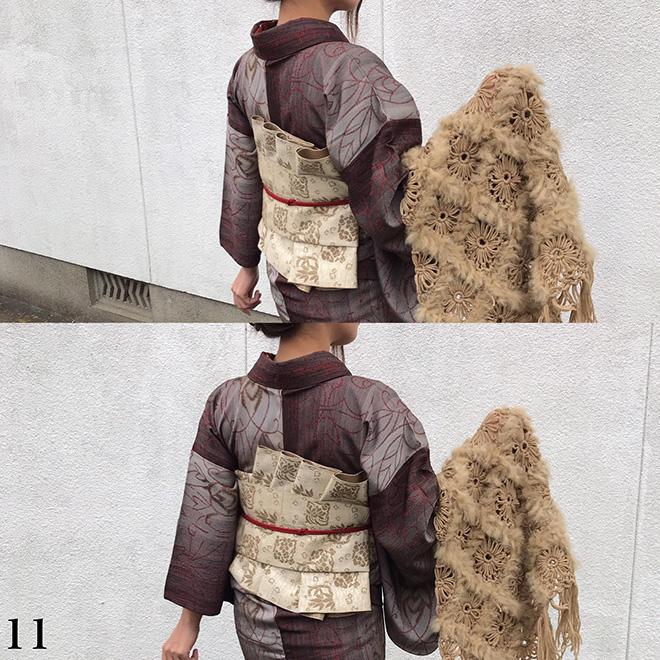 オリジナル帯結び-鎧-11