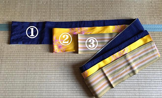 初心者向けの帯の結び方2