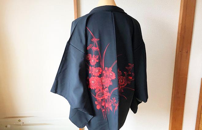 黒羽織のコーディネート6