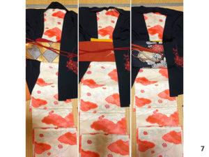 黒羽織のコーディネート7